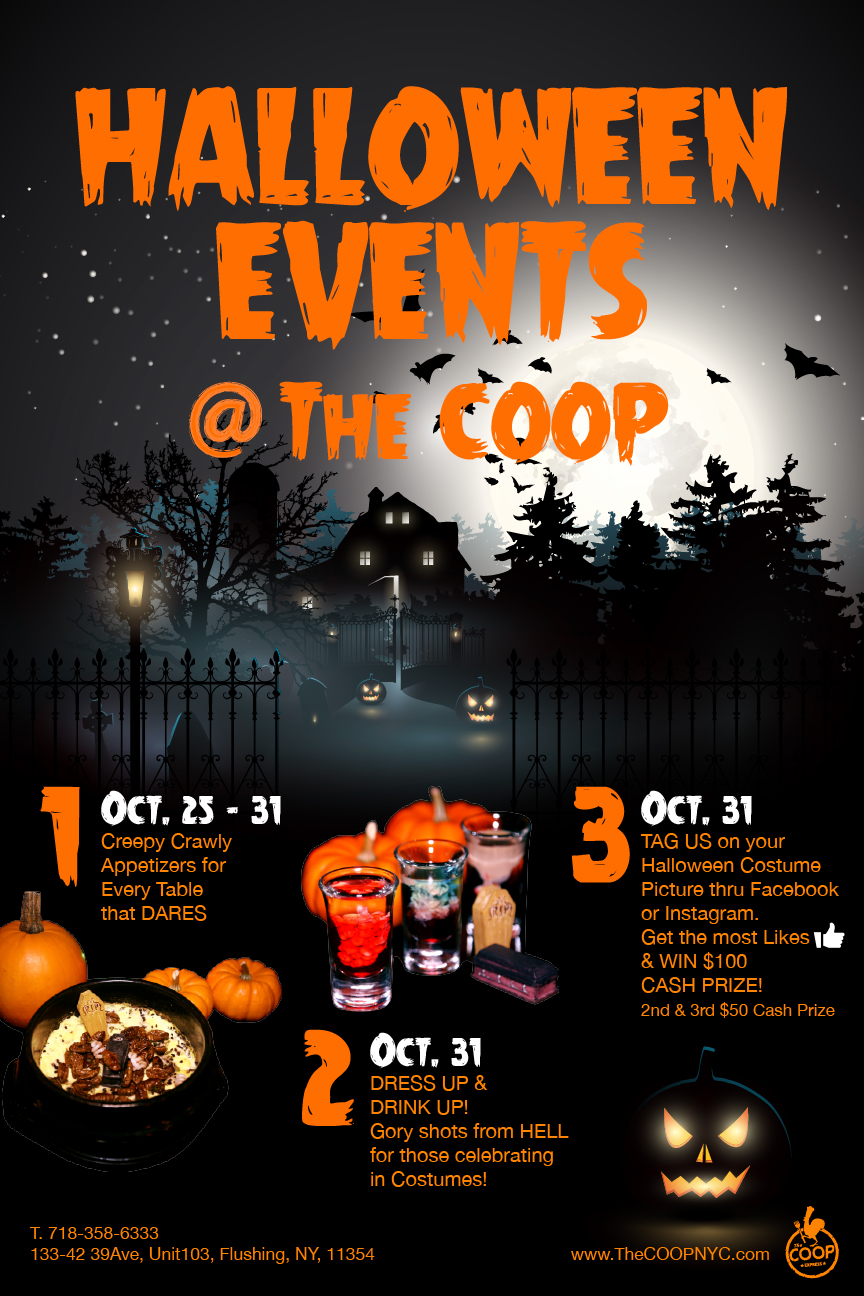 HALLOWEEN EVENTS @The COOP | The Coop